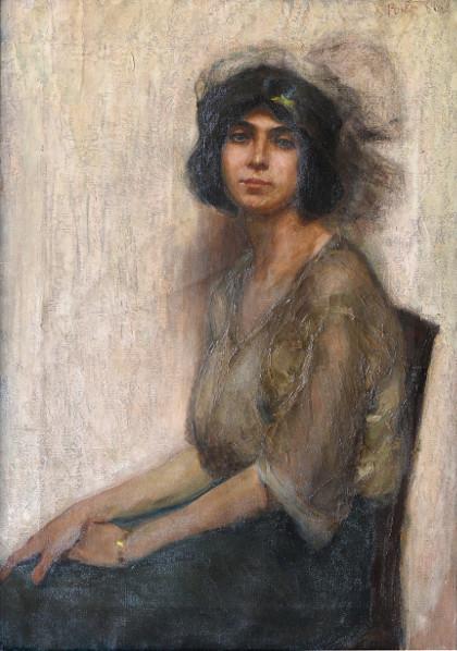 """Mario Polpatelli: """"Ritratto di signora in nero"""", anni '20."""