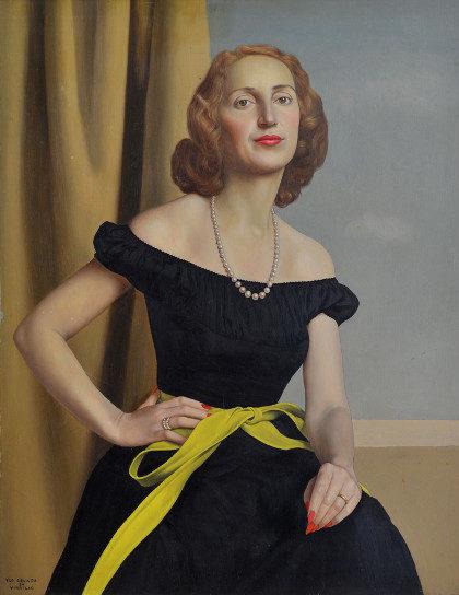 """Uno Celada da Virgilio: """"Ritratto di donna"""", anni '40."""