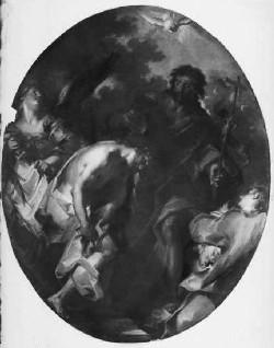 """Giuseppe Bazzani: """"Battesimo di Gesù"""", presso la Parrocchia di Borgoforte."""