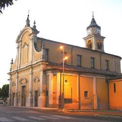 La chiesa parrocchiale di Portiolo, frazione del comune di San Benedetto Po.