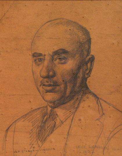 """Ugo Celada da Virgilio: """"Ritratto d'uomo"""", disegno, 1927."""