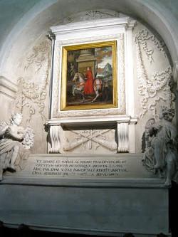 Il sepolcro di Matilde di Canossa presso la Basilica del Polirone a San Benedetto Po (ora vuoto).