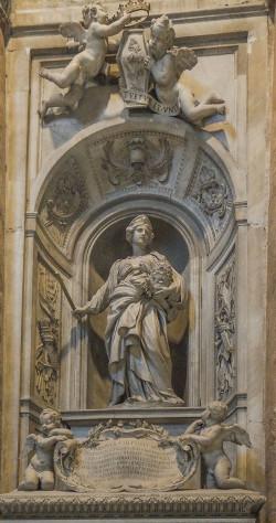 Il sepolcro di Matilde di Canossa realizzato da Gian Lorenzo Bernini nel 1635 nella Basilica di san Pietro in Vaticano per volontà di papa Urbano VIII.