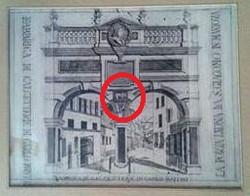 Stampa settecentesca raffigurante la Porta Leona.